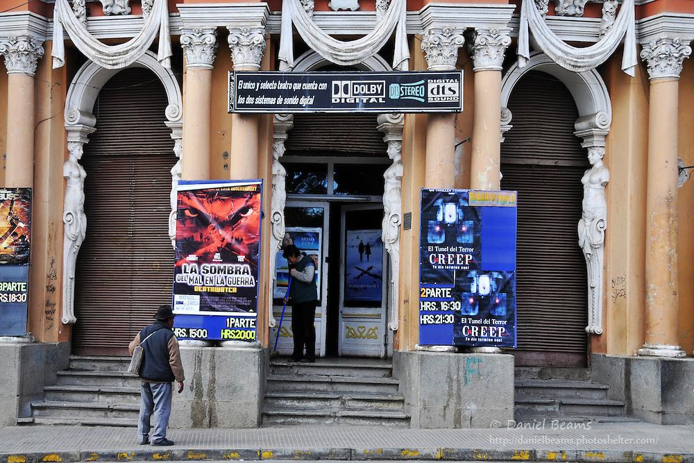 Movie theatre in Oruro, Bolivia