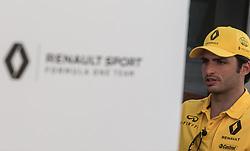 November 23, 2017 - Abu Dhabi, United Arab Emirates - Carlos Sainz of Spain and Renault Team driver gives an interview on Formula One Etihad Airways Abu Dhabi Grand Prix on Nov 23, 2017 in Yas Marina Circuit, Abu Dhabi, UAE. (Credit Image: © Robert Szaniszlo/NurPhoto via ZUMA Press)