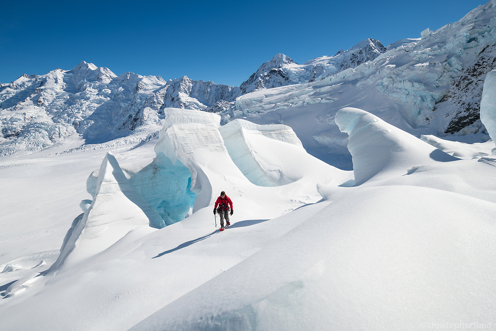 Trekking The Tasman Glacier (Haupapa) which is the largest glacier in New Zealand, and one of several large glaciers which flow south and east towards the Mackenzie Basin from the Southern Alps in New Zealand's South Island.