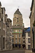 Canada. Quebec. the vieux Quebec, old Quebec city center,    / la vielle ville . vieux quebec