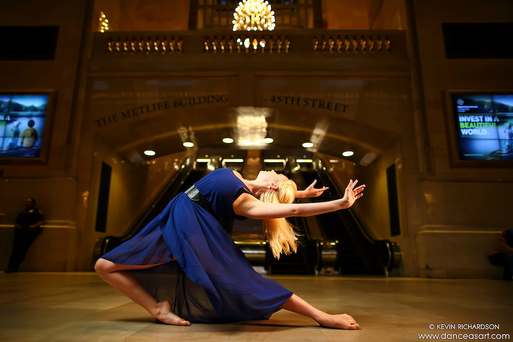 Dance As Art New York City Photography Project Grand Central Series with dancer, Alyssa Nesss