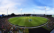 A general view of Bay Oval.<br /> Pakistan tour of New Zealand. T20 Series. 3rd Twenty20 international cricket match, Bay Oval, Mt Maunganui, New Zealand. Sunday 28 January 2018. © Copyright Photo: Andrew Cornaga / www.Photosport.nz