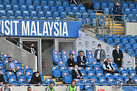 Football - 2019 / 2020 Championship - Play-off semi-final - 1st leg - Cardiff City vs Fulham<br /> <br /> the directors' box<br /> in a match played with no crowd due to Covid 19 coronavirus emergency regulations, in an almost empty ground, at the Cardiff City Stadium<br /> <br /> COLORSPORT/WINSTON BYNORTH