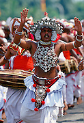 Dancer performs a traditional dance during a procession in Colombo, Sri Lanka RESERVED USE - NOT FOR DOWNLOAD -  FOR USE CONTACT TIM GRAHAM