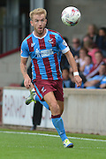 Paddy Madden  keeping his eye on the ball during the Sky Bet League 1 match between Scunthorpe United and Crewe Alexandra at Glanford Park, Scunthorpe, England on 15 August 2015. Photo by Ian Lyall.