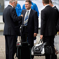 Rosenborg v St Johnstone....17.07.13  UEFA Europa League Qualifier.<br /> Chairman Steve Brown at Trondheim Airport<br /> Picture by Graeme Hart.<br /> Copyright Perthshire Picture Agency<br /> Tel: 01738 623350  Mobile: 07990 594431
