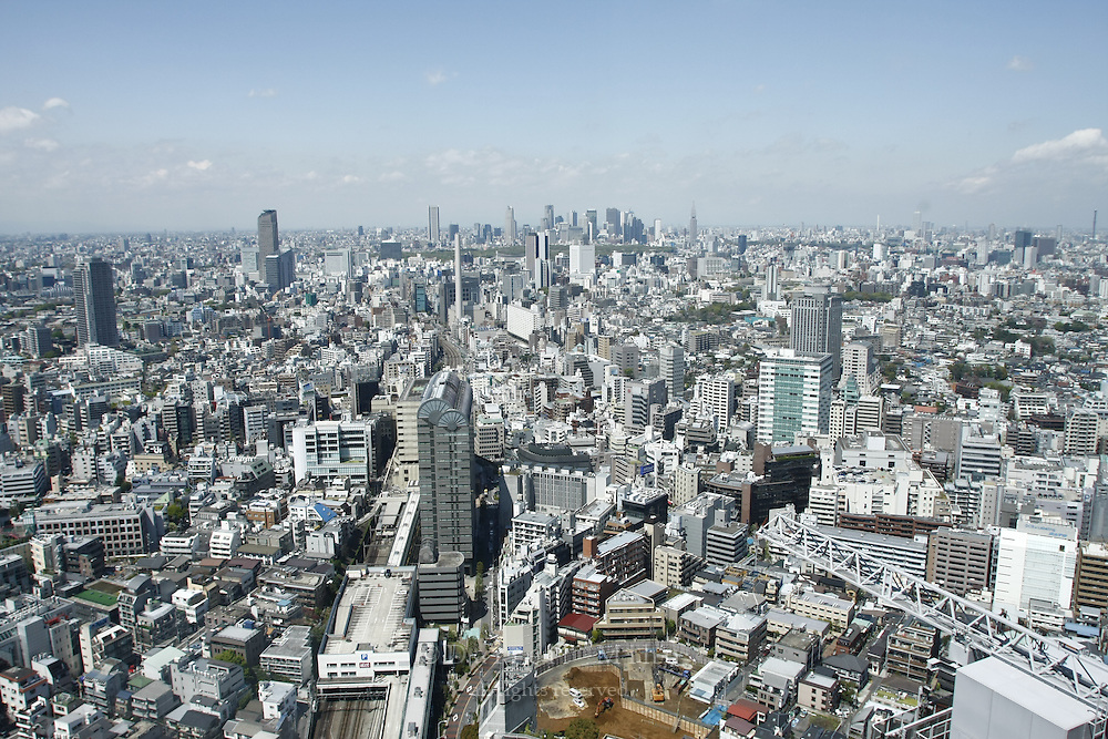 April 11, 2008; Tokyo, Japan - View looking north toward Shinjuku from the 39th floor of the Yebisu Tower at Yebisu Garden Place in Ebisu...Photo credit: Darrell Miho