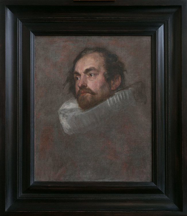 Sir Anthony Van Dyck<br /> 1599-1641<br /> &quot;Head study of a man in ruff&quot; (Magistrate of Brussels)<br /> Oil on canvas<br /> Rubenshouse Antwerp Belgium