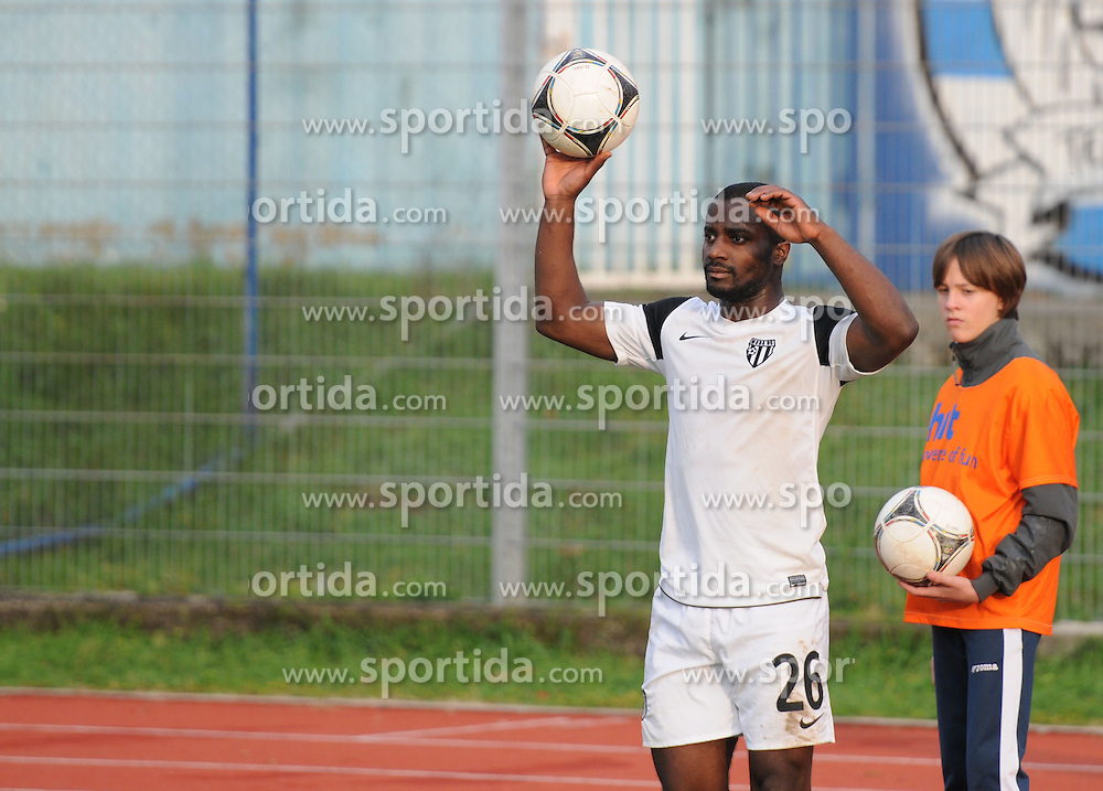 Opoku Aborah Stanley #26 of Mura 05 during football match between ND Gorica and ND Mura 05 in 20th Round of PrvaLiga NZS 2012/13 on November 24, 2012 in Nova Gorica, Slovenia. (Photo By Ales Cipot / Sportida)