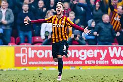 Bradford City's Billy Clarke celebrates after scoring the opening goal - Photo mandatory by-line: Matt McNulty/JMP - Mobile: 07966 386802 - 15/02/2015 - SPORT - Football - Bradford - Valley Parade - Bradford City v Sunderland - FA Cup - Fifth Round