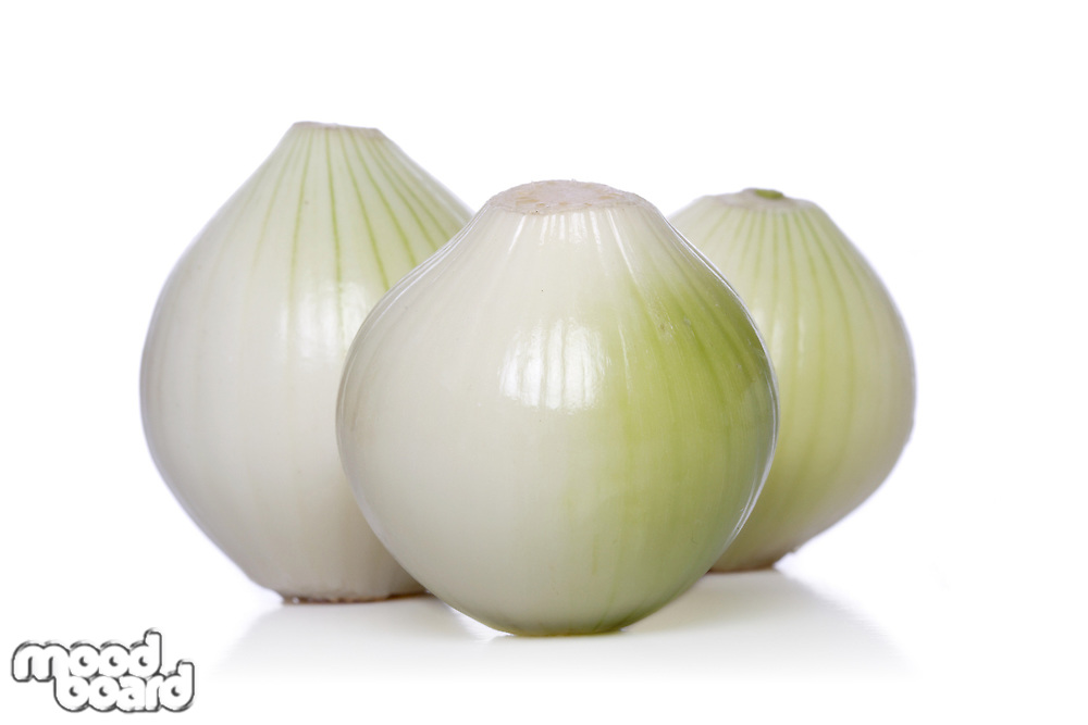 Onion on white background - studio shot