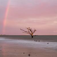 Sunset rainbow at Boneyard Beach, Botany Bay, Edisto Island, SC