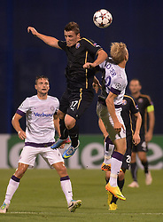 21.08.2013, Maksimir Stadion, Zagreb, CRO, UEFA CL Qualifikation, GNK Dinamo Zagreb vs FK Austria Wien, Hinspiel, im Bild Said Husejinovic, // during the UEFA Champions League, Qualification first leg match between GNK Dinamo Zagreb and FK Austria Wien at Maksimir Stadium in Zagreb, Croatia on 2013/08/21. EXPA Pictures &copy; 2013, PhotoCredit: EXPA/ Pixsell/ Marko Prpic<br /> <br /> ***** ATTENTION - for AUT, SLO, SUI, ITA, FRA only *****