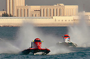 U.I.M Formula One (F1) Worldchampionship 2006, Qatar Grand Prix, at Doha, on 15 April, 2006.  Ivan Brigada, Scott Gillman, and Philippe Dessertenne placed 1st - 3rd (respectively). (Photo/Lance Cheung)..PHOTO COPYRIGHT 2006 LANCE CHEUNG.This photograph is NOT within the public domain..This photograph is not to downloaded, stored, manipulated, printed or distributed with out the written permission from the photographer. .This photograph (on this web site) is protected under domestic and international laws.