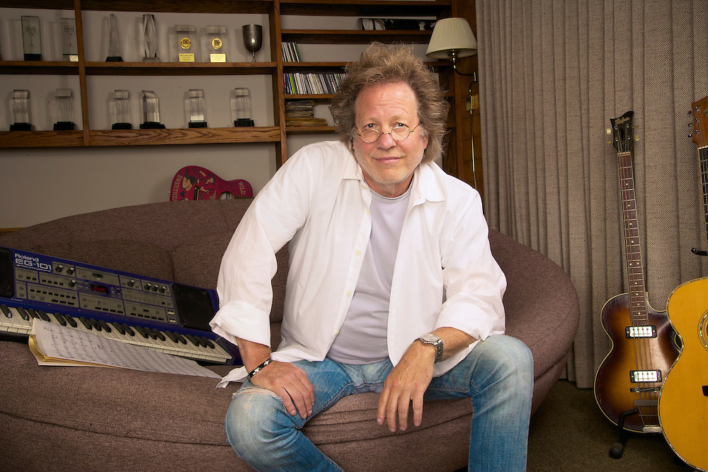 Steve Dorff at his home studio in Las Virgenes CA