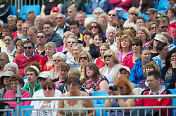LIVERPOOL, ENGLAND - Sunday, June 19, 2011: Spectators during day four of the Liverpool International Tennis Tournament at Calderstones Park. (Pic by David Rawcliffe/Propaganda)