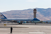 PRESIDENT DONALD J. TRUMP arrives on Air Force One in Reno, Nevada, on Wednesday, August 23, 2017. Trump is speaking at the American Legion convention at the Reno-Sparks Convention Center. The American Legion is a war time veterans association that often holds its annual convention at the Reno-Sparks Convention Center.