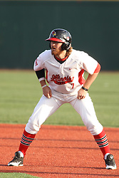21 April 2015:  Mason Snyder during an NCAA Inter-Division Baseball game between the Illinois Wesleyan Titans and the Illinois State Redbirds in Duffy Bass Field, Normal IL