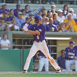 06 June 2009: Derek Helenihi (5) of LSU at bat during a 5-3 victory by the LSU Tigers over the Rice Owls in game two of the NCAA baseball College World Series, Super Regional played at Alex Box Stadium in Baton Rouge, Louisiana. The Tigers with the win advance to next week's College Baseball World Series in Omaha, Nebraska.