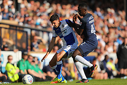 Liam Sercombe of Bristol Rovers shields the ball from Elvis Bwomono of Southend United  - Mandatory by-line: Richard Calver/JMP - 05/05/2018 - FOOTBALL - Roots Hall - Southend-on-Sea, England - Southend United v Bristol Rovers - Sky Bet League One