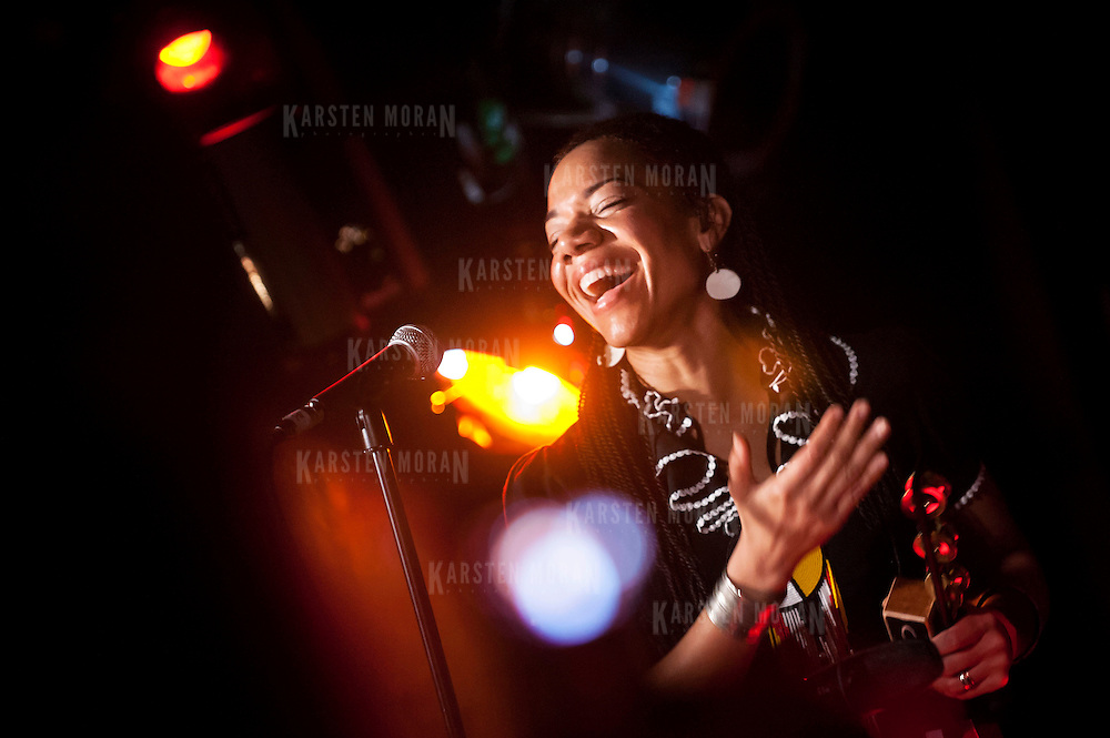 "January 14, 2013 - New York, NY : Martha Redbone of the ""Martha Redbone Roots Project"" performs during globalFEST in The Studio at Webster Hall on Sunday night. CREDIT: Karsten Moran for The New York Times"