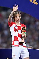 FUSSBALL  WM 2018  FINALE  ------- Frankreich - Kroatien    15.07.2018 Luka Modric (Kroatien) mit der  Auszeichung bester Spieler  des Turniers.