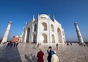 India, Uttar Pradesh. Agra, Taj Mahal.