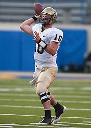 October 10, 2009; San Jose, CA, USA;  Idaho Vandals quarterback Nathan Enderle (10) during the first quarter against the San Jose State Spartans at Spartan Stadium.  Idaho won 29-25.