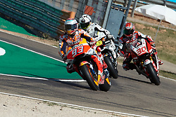 September 22, 2018 - Marc Marquez (Repsol Honda Team) in action during  Gran Prix Movistar the Aragón. 22-09-2018  September 22, 2018. (Credit Image: © AFP7 via ZUMA Wire)