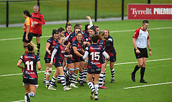 Bristol Bears Women celebrate Row Marston's try - Mandatory by-line: Paul Knight/JMP - 26/10/2019 - RUGBY - Shaftesbury Park - Bristol, England - Bristol Bears Women v Richmond Women - Tyrrells Premier 15s