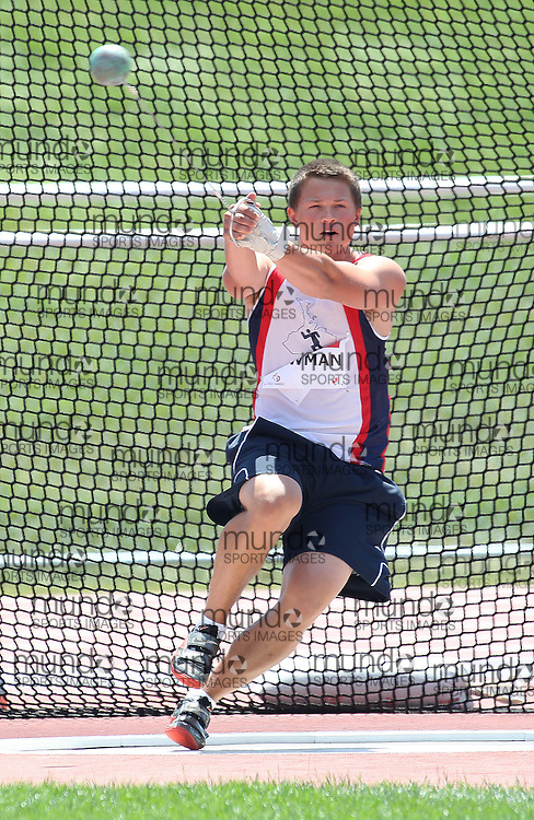 (Moncton,  New Brunswick) --- 2010 Canadian Junior Track and Field Championships - July 2nd to 4th,2010, Moncton, New Bruinswick ---.Kevin Bowman-HammerThrow003_0710CA.jpg at the 2010 Canadian Junior Track and Field championships in Moncton, New Brunswick July 04 ,  2010)... Photograph copyright Claus Andersen / Mundo Sport Images, 2010.