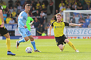 Burton Albion midfielder Stephen Quinn (7) and Coventry City midfielder Zain Westbrooke (25) during the EFL Sky Bet League 1 match between Burton Albion and Coventry City at the Pirelli Stadium, Burton upon Trent, England on 14 September 2019.
