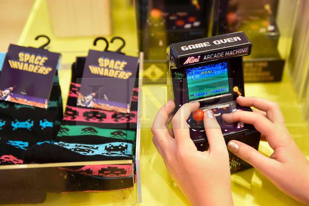 "© Licensed to London News Pictures. 05/09/2018. LONDON, UK.  Press preview of ""Videogames: Design/Play/Disrupt"", an exhibition at the V&A museum which runs 8 September to 24 February 2019.  The exhibition explores videogame design since the mid-2000s and how technological advancements continue to shape the development of new games. Visitors are encouraged to explore the many interactive items on display.  Photo credit: Stephen Chung/LNP"