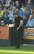 Norwich City's manager Daniel Farke during the EFL Sky Bet Championship match between Norwich City and Hull City at Carrow Road, Norwich, England on 14 October 2017. Photo by John Marsh.