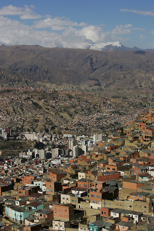 A view of La Paz, the capital of Bolivia.