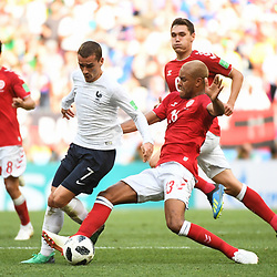 Antoine Griezmann of France during the FIFA World Cup Group C match between Denmark and France at Luzhniki Stadium on June 26, 2018 in Moscow, Russia. (Photo by Anthony Dibon/Icon Sport)