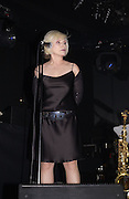 Debbie Harry. Donna Karan party at her shop with concert by Debbie Harry. 28 October 2002. © Copyright Photograph by Dafydd Jones 66 Stockwell Park Rd. London SW9 0DA Tel 020 7733 0108 www.dafjones.com