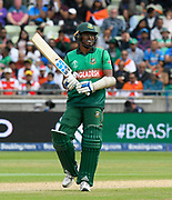 Rubel Hossain of Bangladesh shows anguish on his face as he fails to get a run from a delivery during the ICC Cricket World Cup 2019 match between Bangladesh and India at Edgbaston, Birmingham, United Kingdom on 2 July 2019.
