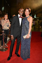 MO FARAH and TANIA NELL at the GQ Men of The Year Awards 2016 in association with Hugo Boss held at Tate Modern, London on 6th September 2016.