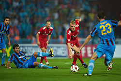 TRABZON, TURKEY - Thursday, August 26, 2010: Liverpool's Dirk Kuyt in action against Trabzonspor during the UEFA Europa League Play-Off 2nd Leg match at the Huseyin Avni Aker Stadium. (Pic by: David Rawcliffe/Propaganda)