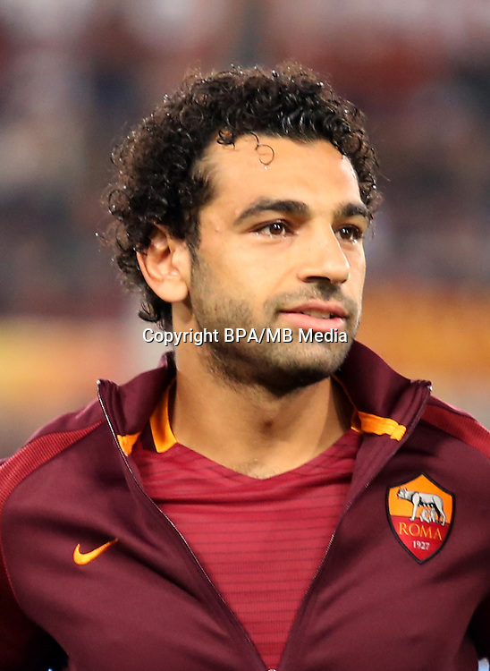 Italian League Serie A -2016-2017 / <br /> ( AS Roma ) - <br /> Mohamed Salah Ghaly &quot; Mohamed Salah &quot;