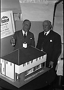 Presentation of Doll House to the I.S.P.C.C..1961..14.11.1961..11.14.1961..14th November 1961..A doll's house built by Wates was donated to the I.S.P.C.C. as the main prize in their annual raffle. The house is a scale model of houses being built by Wates & Co Ltd in Greenfield Park in Santry, Dublin..Image shows the model house kindly donated by Wates & Co Ltd.