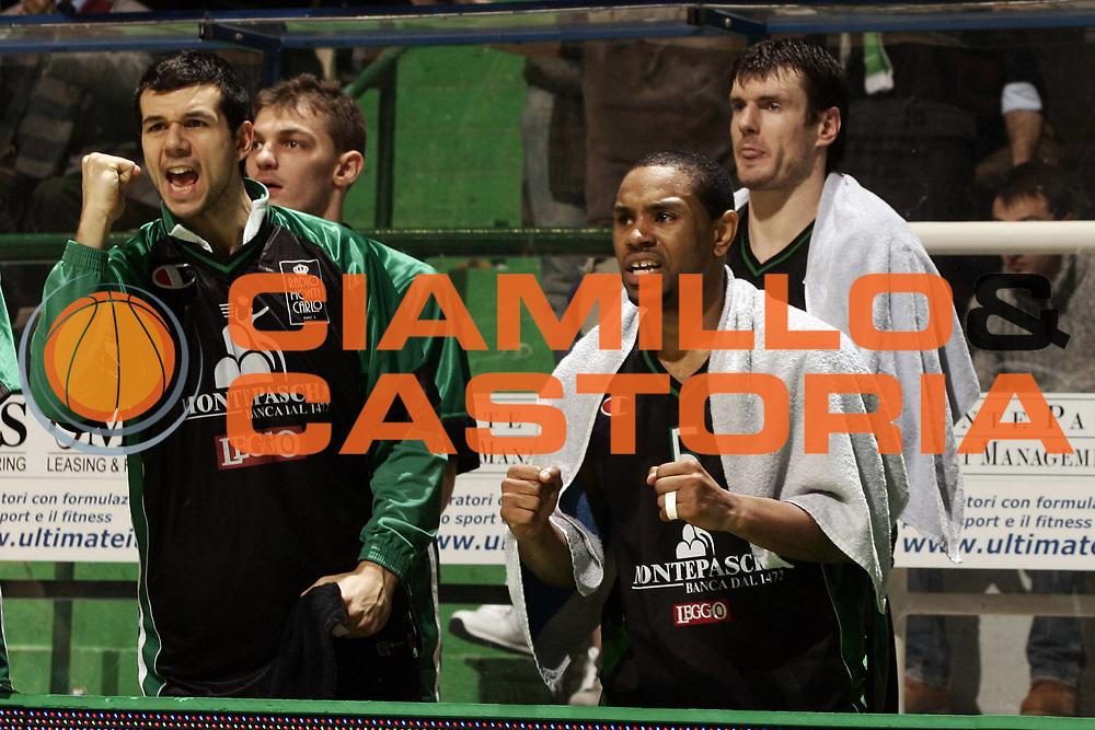DESCRIZIONE : Siena Eurolega 2008-09 Montepaschi Siena CSKA Mosca<br /> GIOCATORE : Marco Carraretto Terrell Mc Intyre<br /> SQUADRA : Montepaschi Siena <br /> EVENTO : Eurolega 2008-2009<br /> GARA : Montepaschi Siena CSKA Mosca<br /> DATA : 11/02/2009<br /> CATEGORIA : esultanza<br /> SPORT : Pallacanestro <br /> AUTORE : Agenzia Ciamillo-Castoria/P.Lazzeroni<br /> Galleria : Eurolega 2008-2009 <br /> Fotonotizia : Siena Eurolega Euroleague 2008-09 Montepaschi Siena CSKA Mosca<br /> Predefinita :
