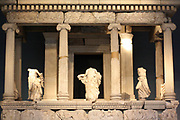 The Nereid Monument. Lykian tomb, found in Xanthus, Turkey. Built around 390-380 BC