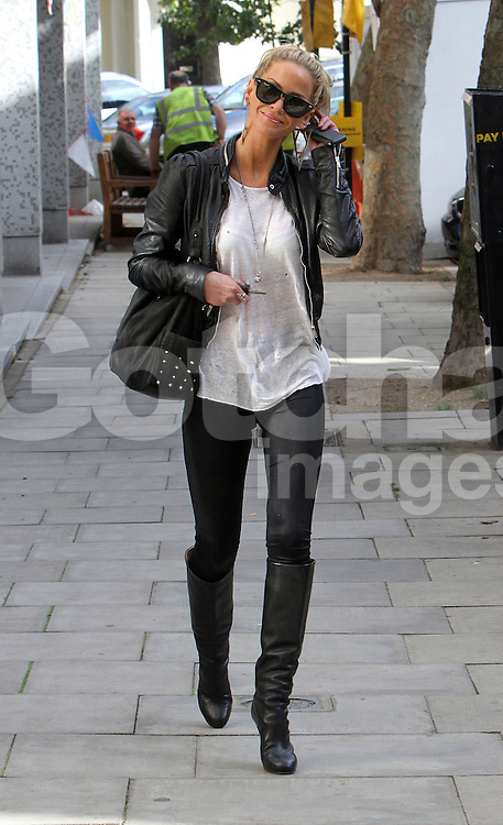 Girls Aloud singer Sarah Harding out and about in Primrose Hill, London, UK. 27/09/2012<br />BYLINE MUST READ : GOTCHAIMAGES.COM<br /><br />Copyright by &copy; Gotcha Images Ltd. All rights reserved.<br />Usage of this image is conditional upon the acceptance <br />of Gotcha Images Ltd, terms and conditions available at<br />www.gotchaimages.com