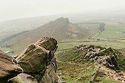 A climber at the Roaches.