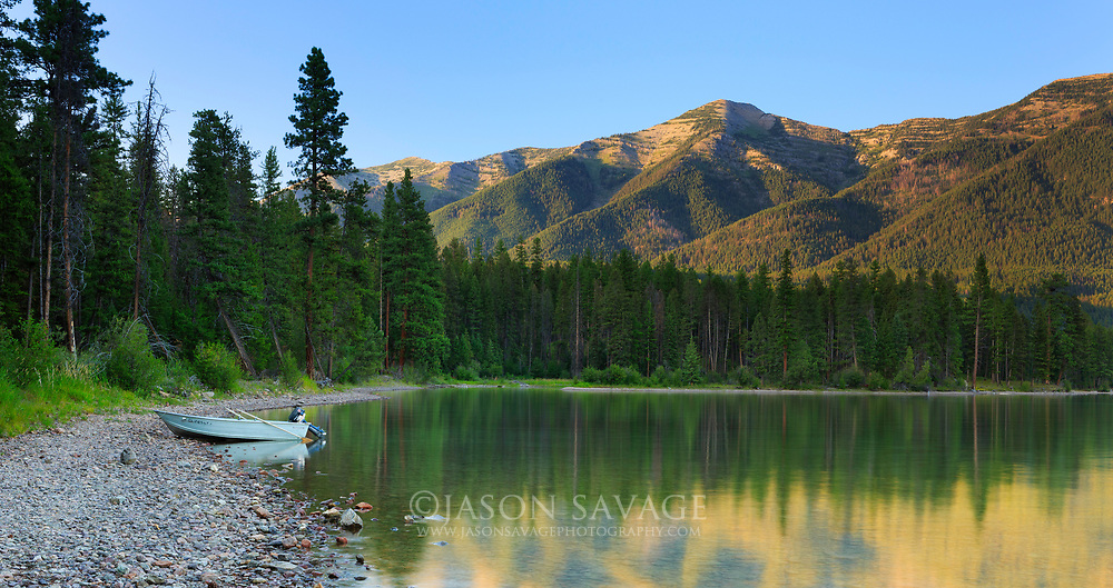 Summer on Holland Lake, Montana.