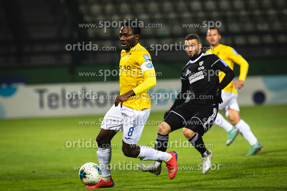 Ovbokha Agboyi of Bravo during football match between NŠ Mura and NK Bravo in 20th Round of Prva liga Telekom Slovenije 2019/20, on December 5, 2019 in Fazanerija, Murska Sobota, Slovenia. Photo by Blaž Weindorfer / Sportida