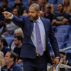 Apr 4, 2018; New Orleans, LA, USA; Memphis Grizzlies head coach J.B. Bickerstaff against the New Orleans Pelicans during the first quarter at the Smoothie King Center. Mandatory Credit: Derick E. Hingle-USA TODAY Sports