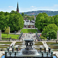 Water Fountain at Frogner Park in Oslo, Norway <br />
